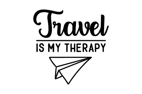 Download Free Travel Is My Therapy Svg Cut File By Creative Fabrica Crafts Creative Fabrica for Cricut Explore, Silhouette and other cutting machines.