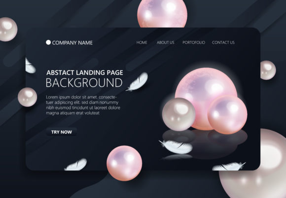 Trendy Landing Page Background Graphic Landing Page Templates By SugarV_Creative - Image 1