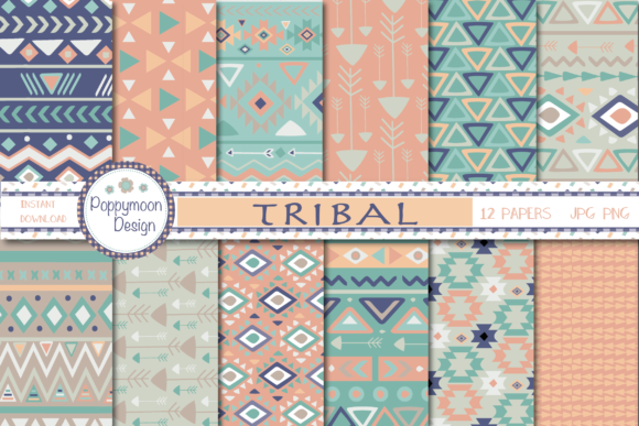 Print on Demand: Tribal Paper Graphic Patterns By poppymoondesign