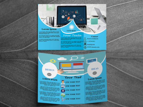 Download Free Trifold Brochure Design Flayer Graphic By Creativesya Creative for Cricut Explore, Silhouette and other cutting machines.