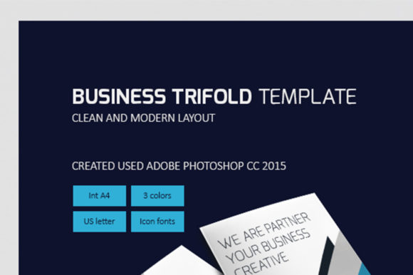 Trifold Design PSD Template Graphic By rivatxfz