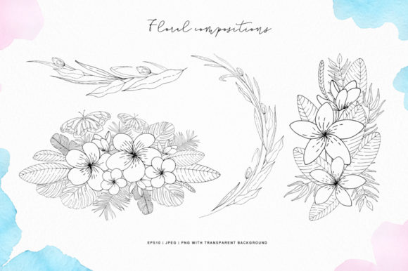 Tropical Blossom Graphic Collection Graphic By Nata Art Graphic Image 3