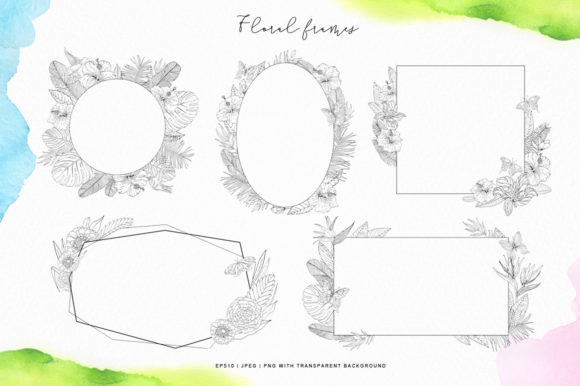 Tropical Blossom Graphic Collection Graphic By Nata Art Graphic Image 4