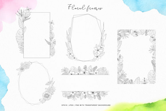 Tropical Blossom Graphic Collection Graphic By Nata Art Graphic Image 5