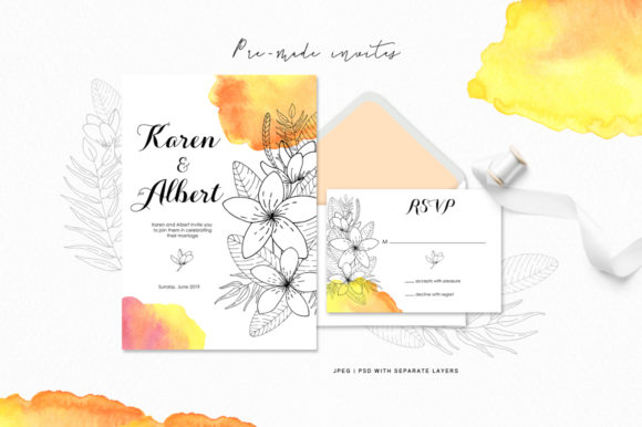 Tropical Blossom Graphic Collection Graphic By Nata Art Graphic Image 9