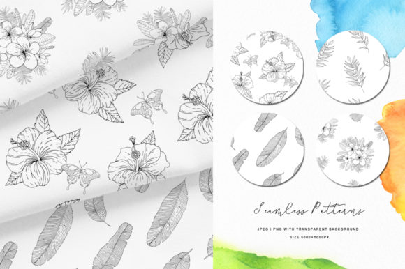 Tropical Blossom Graphic Collection Graphic By Nata Art Graphic Image 10