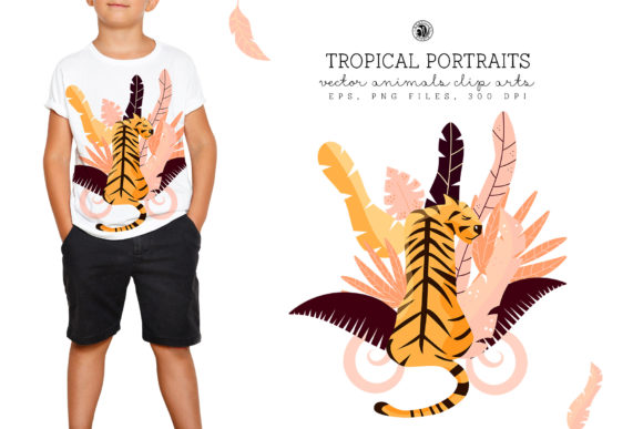 Print on Demand: Tropical Portraits Graphic Illustrations By webvilla