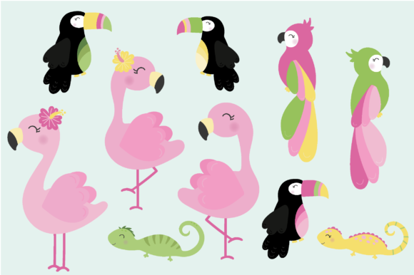 Print on Demand: Tropical Graphic Illustrations By poppymoondesign - Image 2