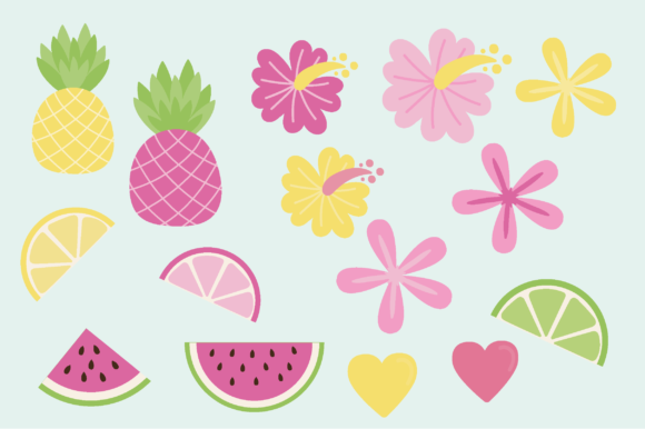 Print on Demand: Tropical Graphic Illustrations By poppymoondesign - Image 3
