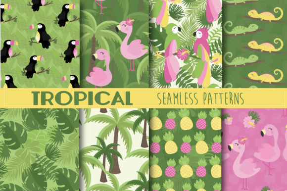 Print on Demand: Tropical Graphic Illustrations By poppymoondesign - Image 4