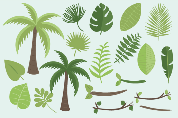 Print on Demand: Tropical Graphic Illustrations By poppymoondesign - Image 5