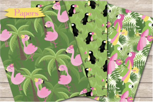 Print on Demand: Tropical Graphic Illustrations By poppymoondesign - Image 6