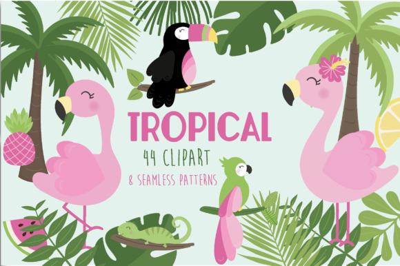 Print on Demand: Tropical Graphic Illustrations By poppymoondesign