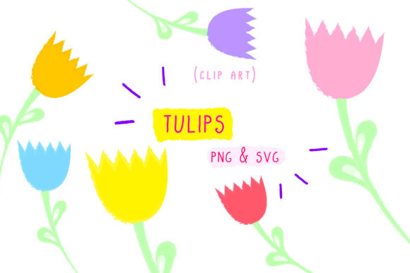 Print on Demand: Tulips Flowers  Plants Graphic Icons By Inkclouddesign