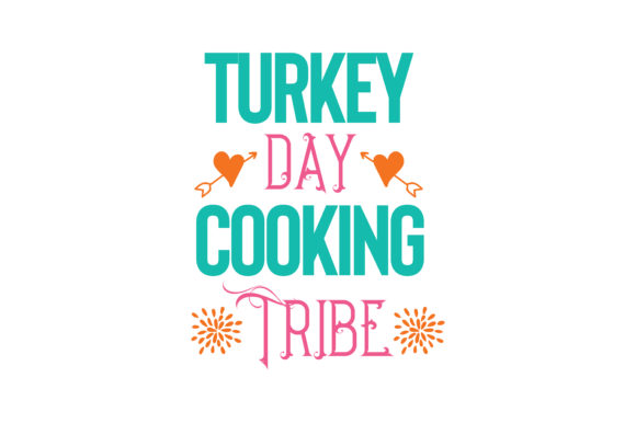 Print on Demand: Turkey Day Cooking Tribe Quote SVG Cut Graphic Crafts By TheLucky