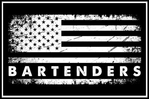 Print on Demand: USA Flag - Bartenders Graphic Crafts By zaibbb