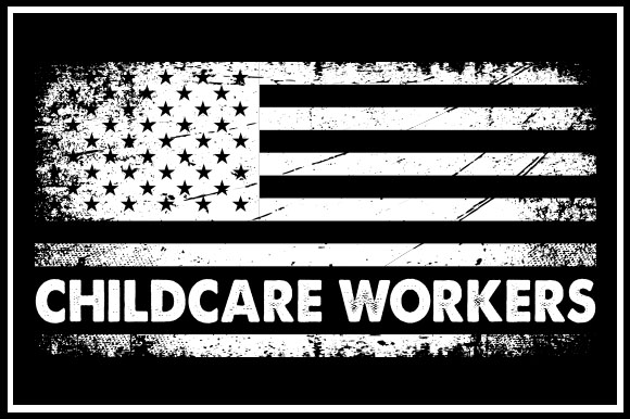 Print on Demand: USA Flag - Childcare Workers Graphic Crafts By Zaibbb