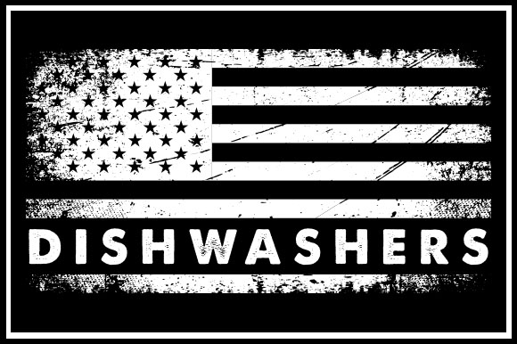 Download Free Usa Flag Dishwashers Graphic By Zaibbb Creative Fabrica for Cricut Explore, Silhouette and other cutting machines.