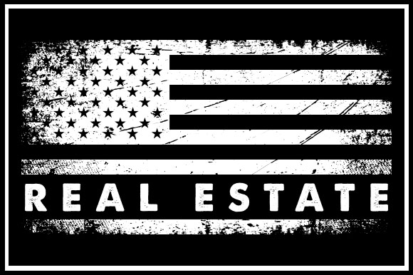 Usa Flag Real Estate Graphic By Zaibbb Creative Fabrica