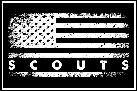 Print on Demand: USA Flag - Scouts Graphic Crafts By Zaibbb