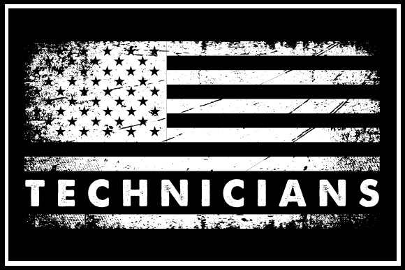 Print on Demand: USA Flag - Technicians Graphic Crafts By zaibbb