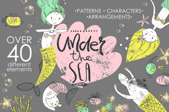 Under the Sea Graphic Kit Graphic Illustrations By dinkoobraz