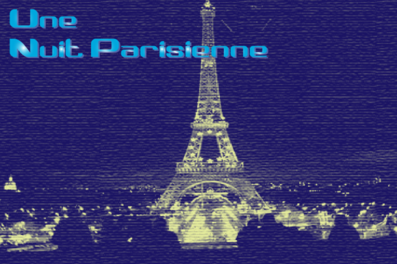 Print on Demand: Une Nuit Parisienne Family Display Font By Megami Studios