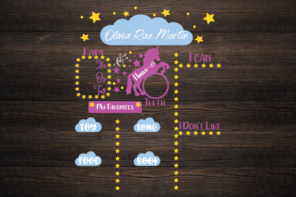 Download Free Unicorn Milestone Board Svg Graphic By Kayla Griffin Creative Fabrica for Cricut Explore, Silhouette and other cutting machines.