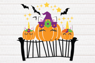 Download Free Unicorn Pumpkin Svg Halloween Graphic By Kayla Griffin Creative Fabrica for Cricut Explore, Silhouette and other cutting machines.