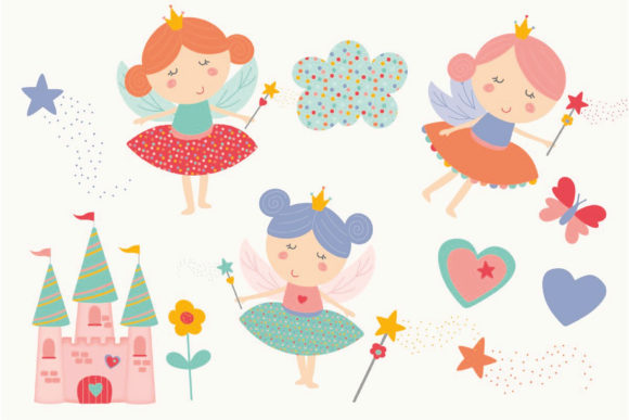 Print on Demand: Unicorns and Fairies Pack Graphic Illustrations By poppymoondesign - Image 4