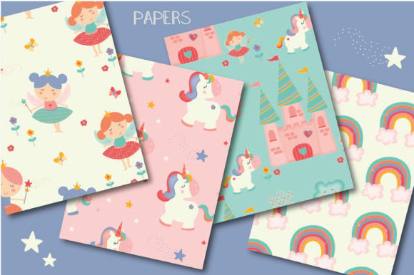 Print on Demand: Unicorns and Fairies Pack Graphic Illustrations By poppymoondesign - Image 5