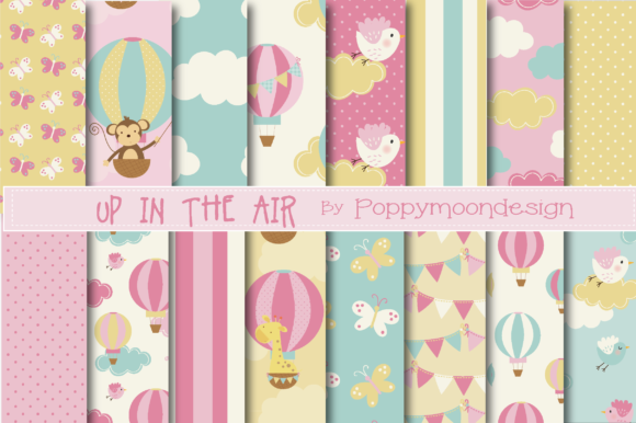 Print on Demand: Up in the Air Papers-pink Graphic Patterns By poppymoondesign