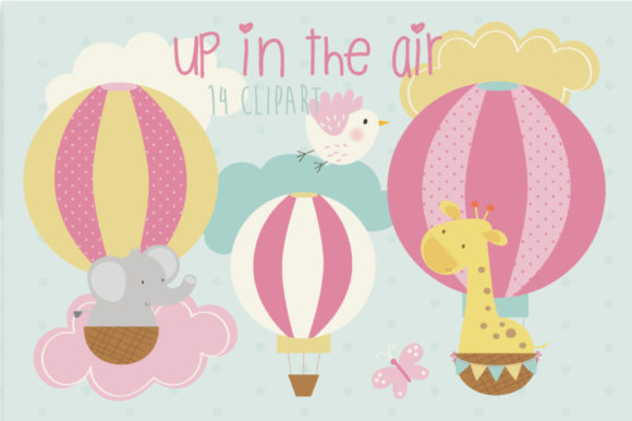 Print on Demand: Up in the Air-Pink Graphic Illustrations By poppymoondesign