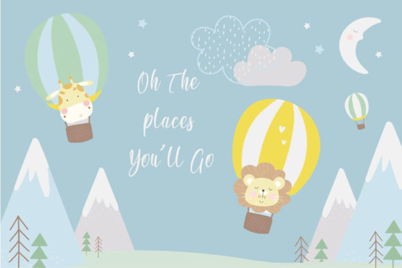 Print on Demand: Up in the Air-boys Graphic Illustrations By poppymoondesign