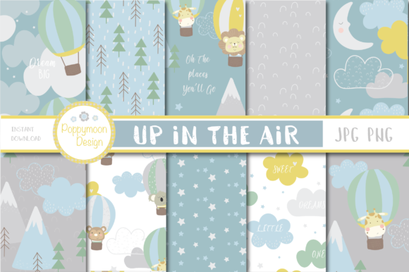 Print on Demand: Up in the Air Papers Graphic Patterns By poppymoondesign