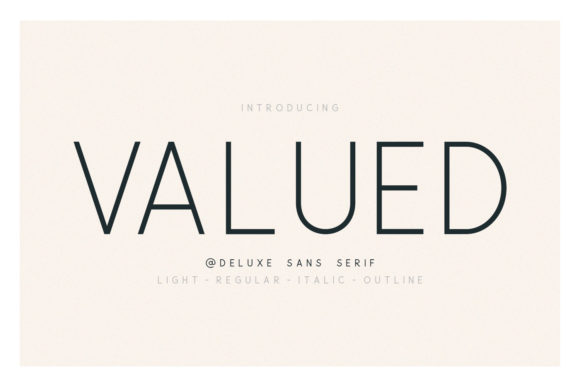Print on Demand: Valued Family Sans Serif Font By Sameeh Media