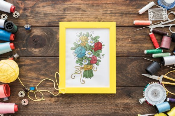 Print on Demand: Crafty & Floral Vector Clip Art Graphic Illustrations By nicjulia - Image 11