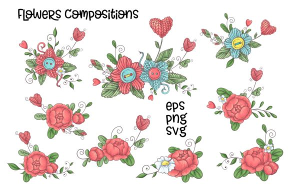 Print on Demand: Crafty & Floral Vector Clip Art Graphic Illustrations By nicjulia - Image 4