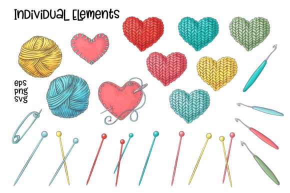 Print on Demand: Crafty & Floral Vector Clip Art Graphic Illustrations By nicjulia - Image 6