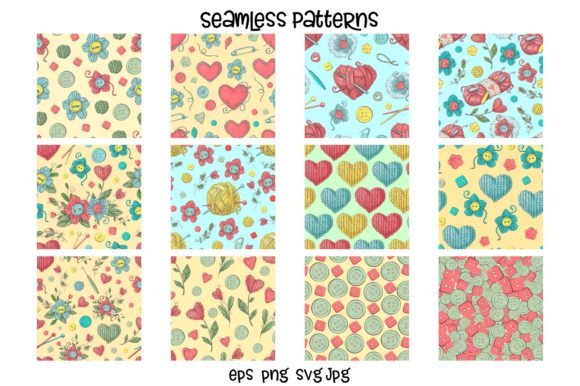 Print on Demand: Crafty & Floral Vector Clip Art Graphic Illustrations By nicjulia - Image 9
