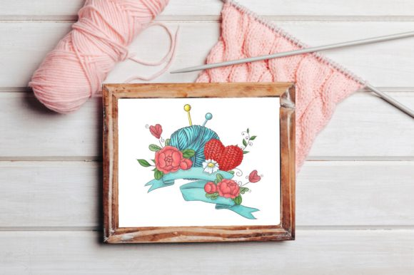 Print on Demand: Crafty & Floral Vector Clip Art Graphic Illustrations By nicjulia - Image 10