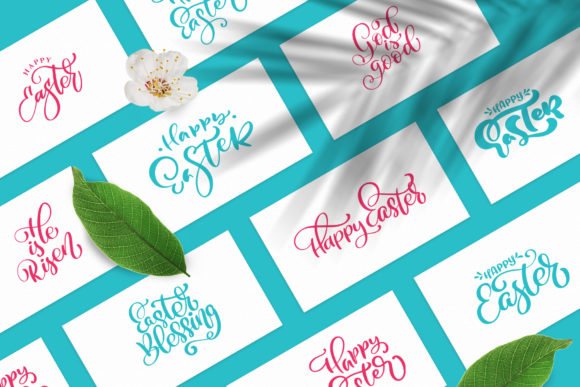 Vector Easter Quotes and Frames SVG Graphic Download