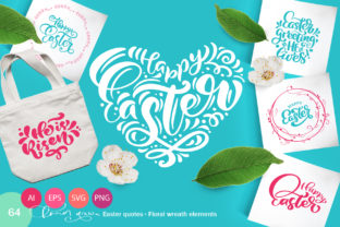 Vector Easter Quotes and Frames SVG Graphic By Happy Letters
