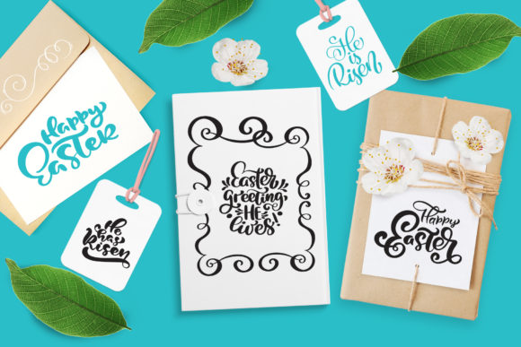 Vector Easter Quotes and Frames SVG Graphic Image
