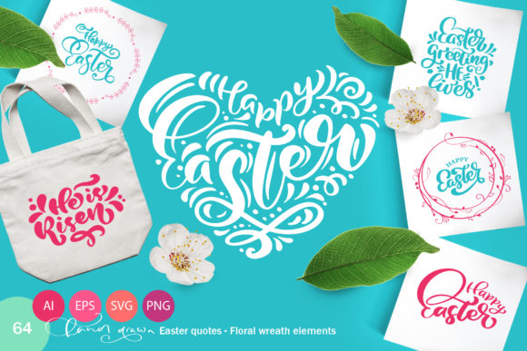Download Free Vector Easter Quotes And Frames Svg Graphic By Happy Letters for Cricut Explore, Silhouette and other cutting machines.