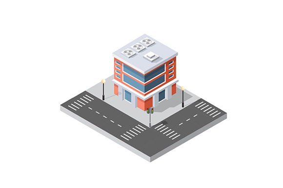 Print on Demand: Vector Isometric Urban Icon Graphic Icons By AlexZel
