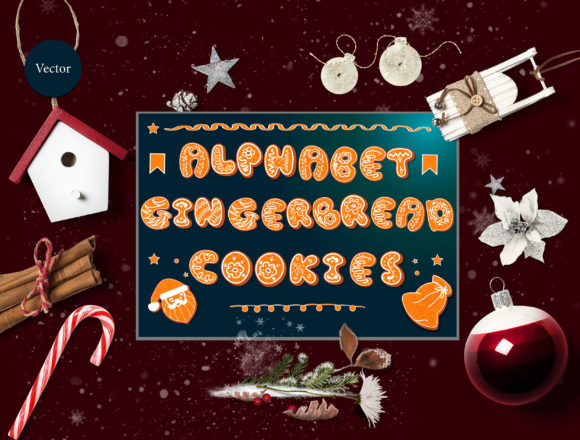 Vector Set of Gingerbread Alphabets Graphic By natika26042002