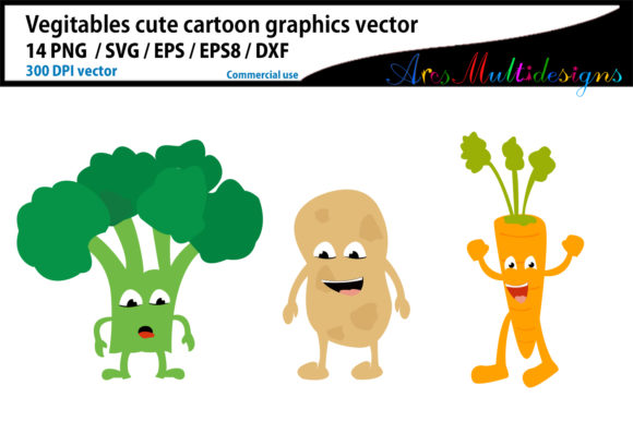 Vegetable Cartoon Clipart Graphic By Arcs Multidesigns Image 4