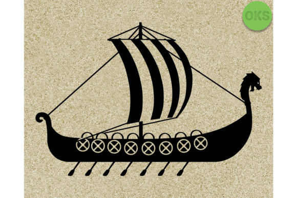Print on Demand: Viking Ship Svg Graphic Crafts By CrafterOks