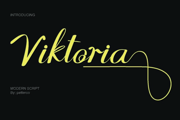 Print on Demand: Viktoria Script & Handwritten Font By Petterco